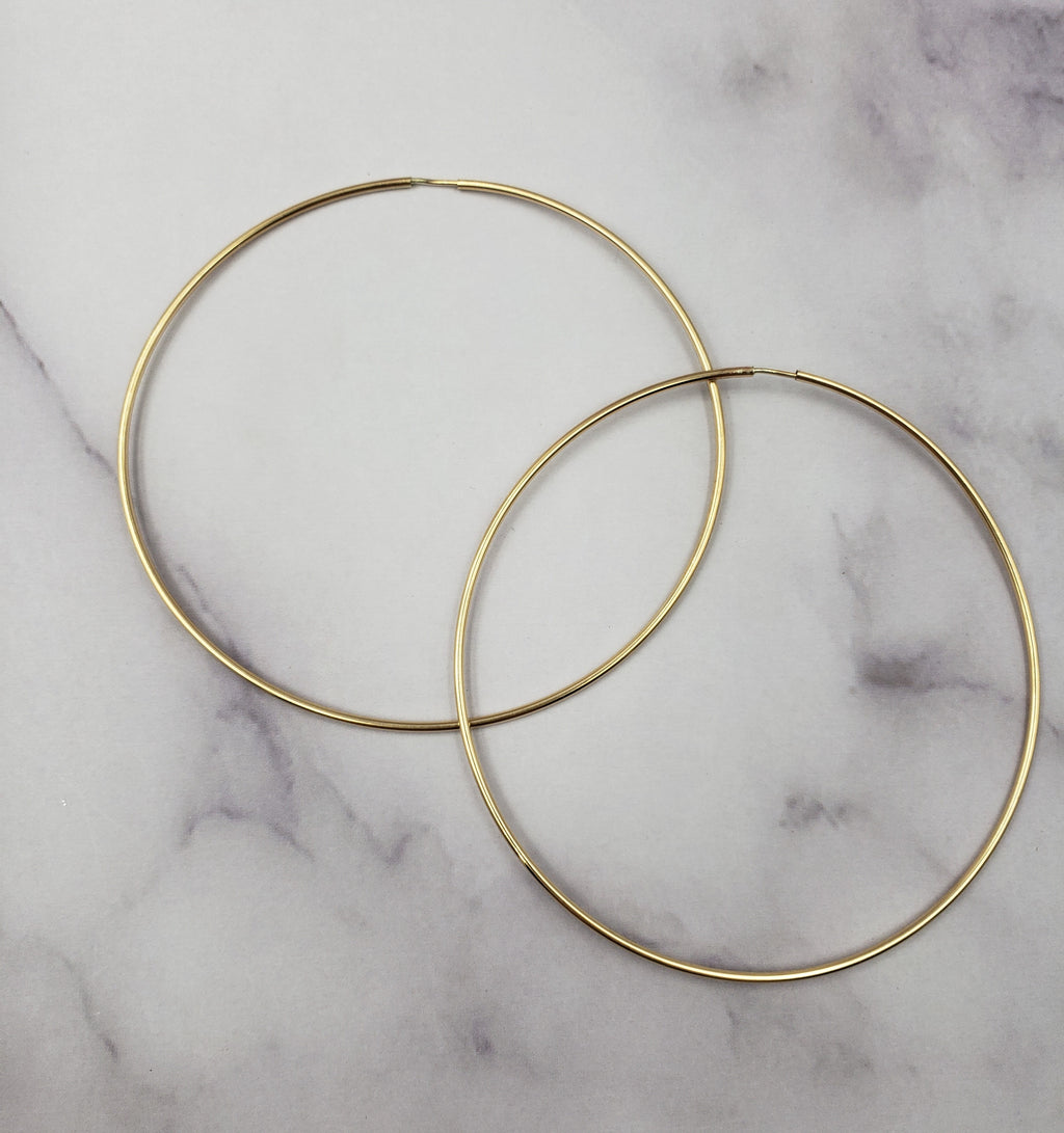 XL Endless Gold Filled Hoops