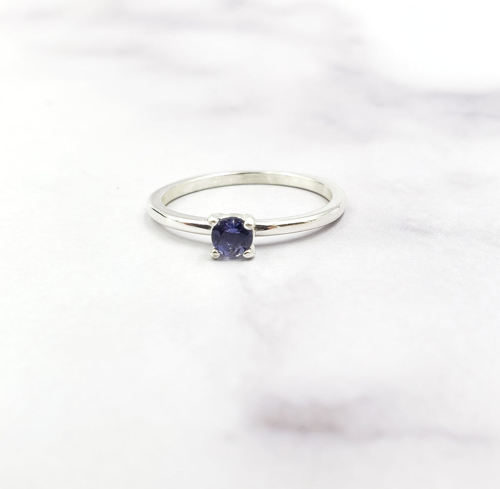 Iolite Solitaire Ring