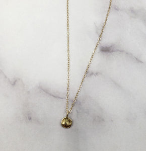 Petite 14k Coin Necklace