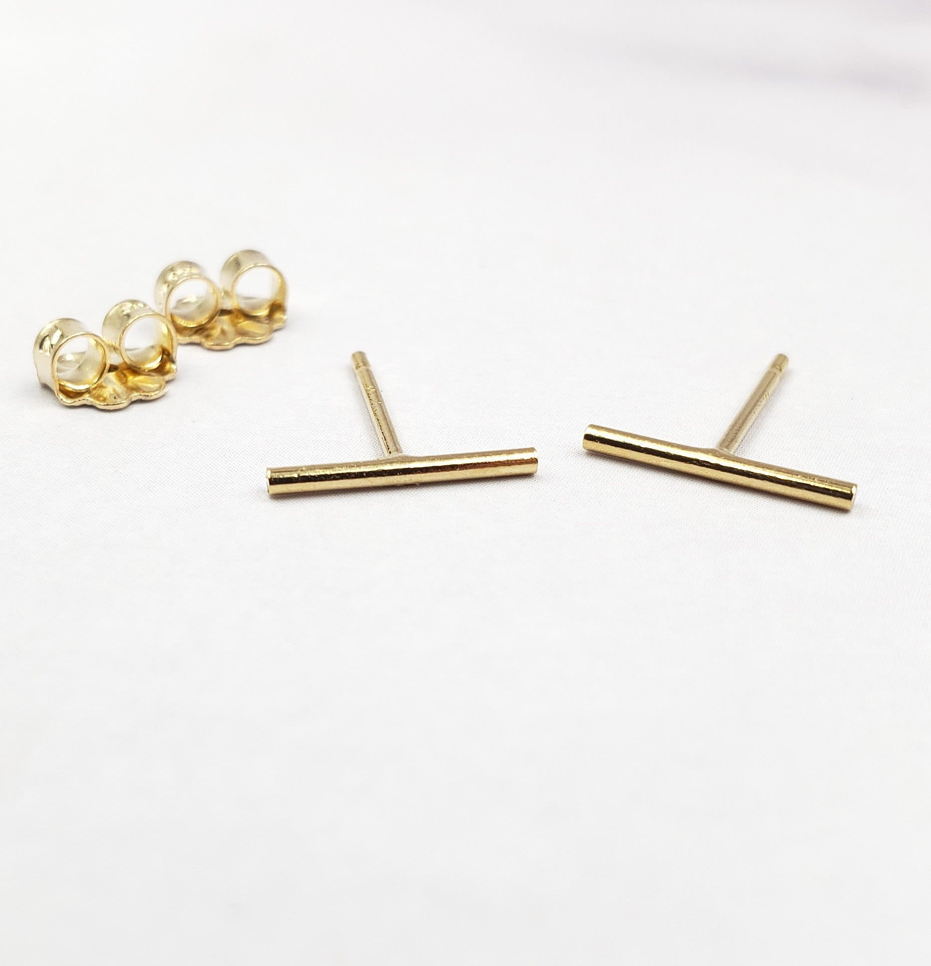 Gold Filled Tiny Bar Studs