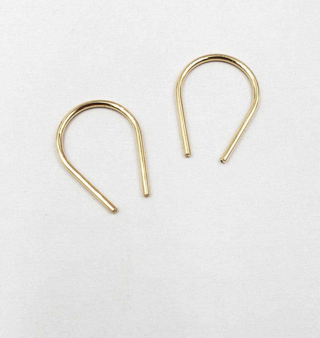 Horseshoe Threader Earrings