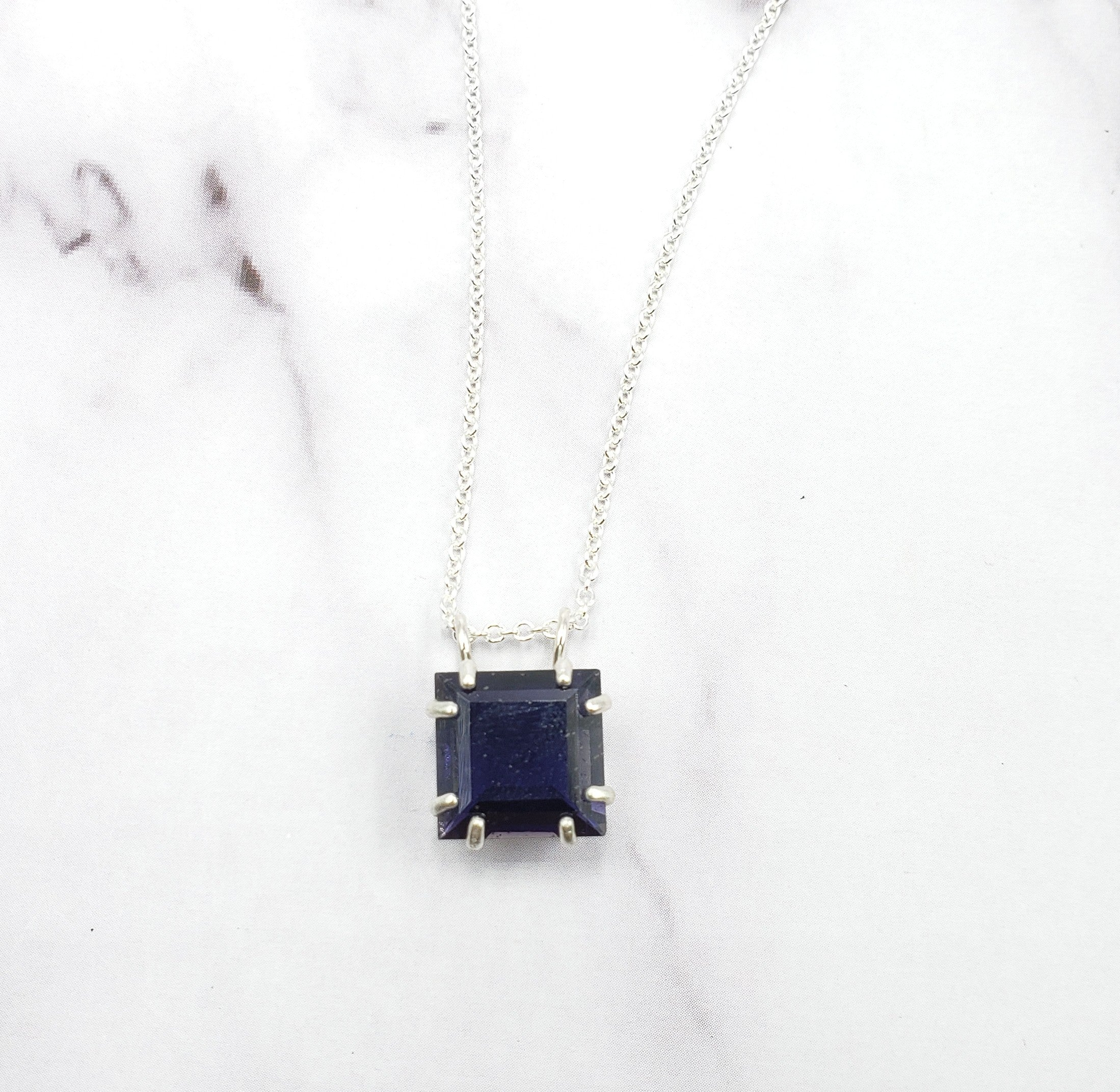 Square Iolite Necklace
