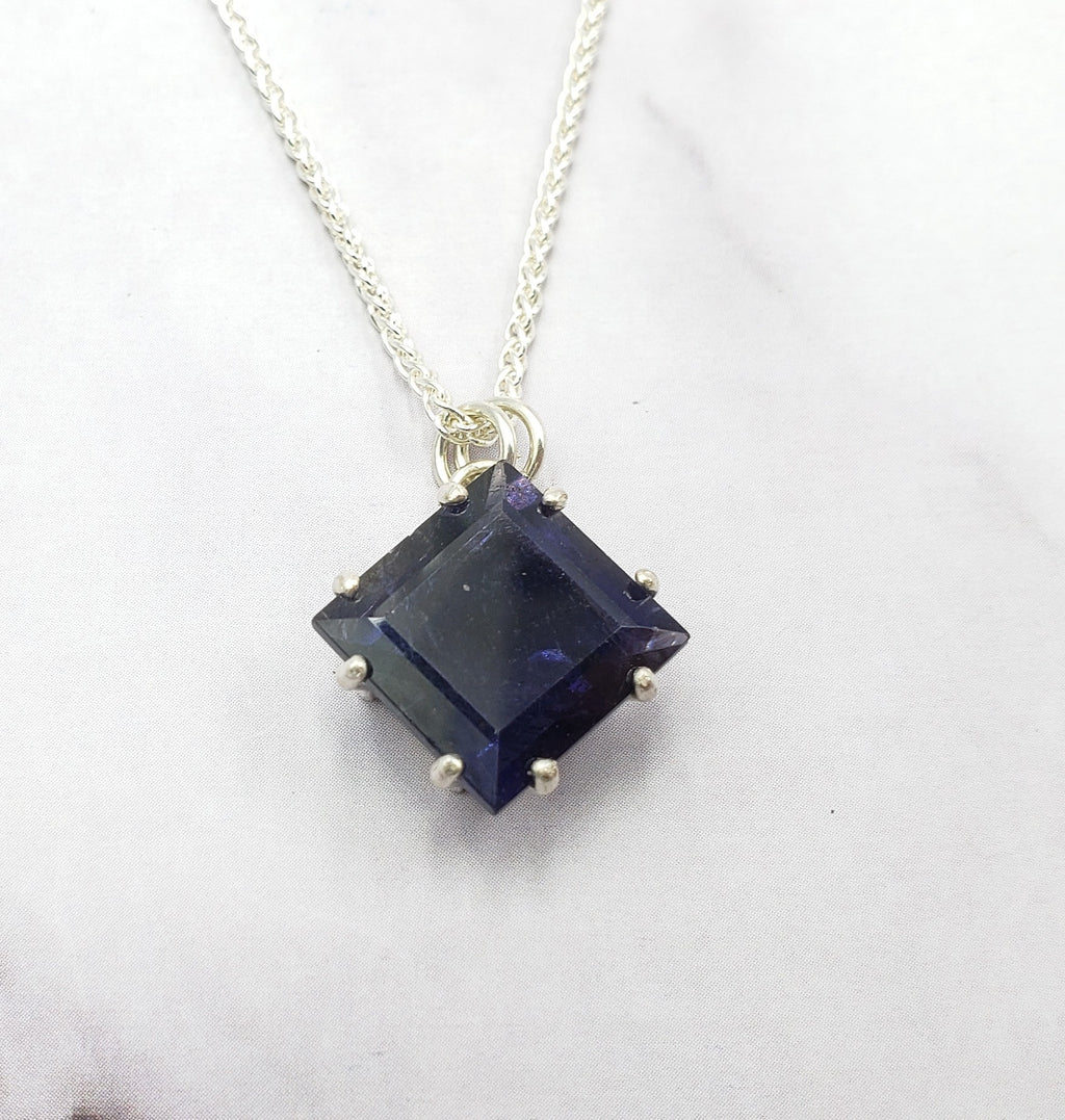 Diamond Iolite Necklace