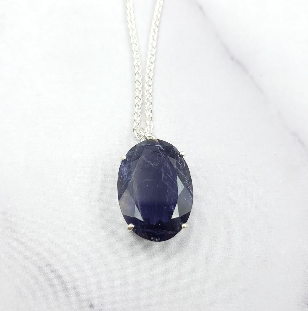 Large Oval Iolite Necklace