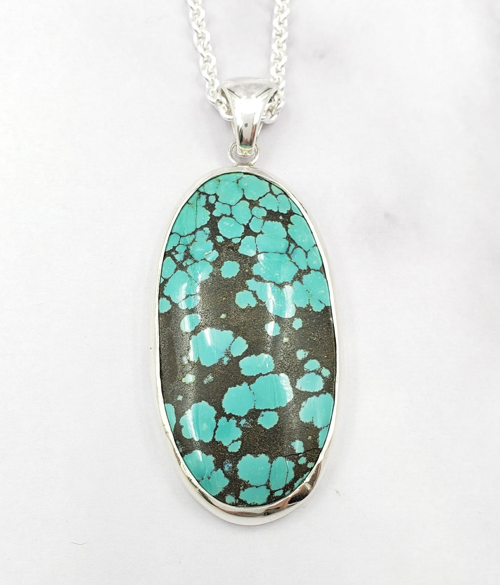 American Turquoise Oval Necklace