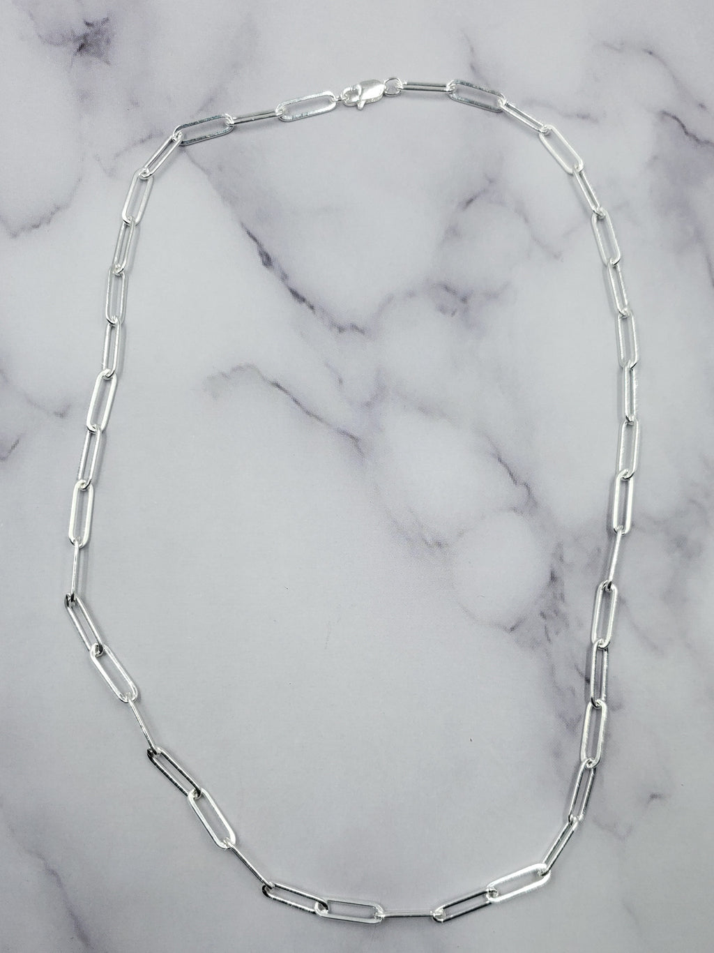 Sterling Paperclip Chain Necklace