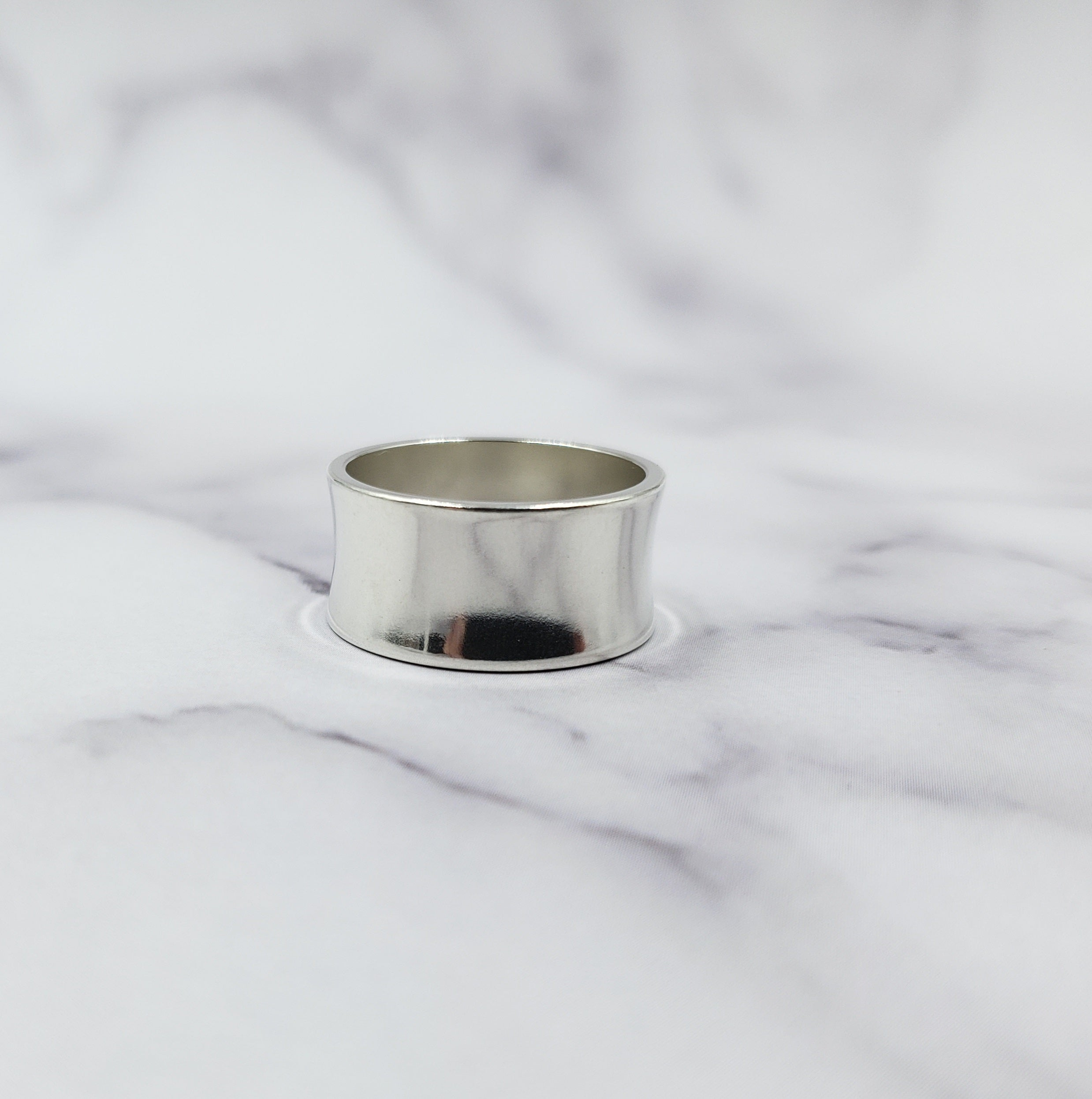 Concave Wide Band Ring