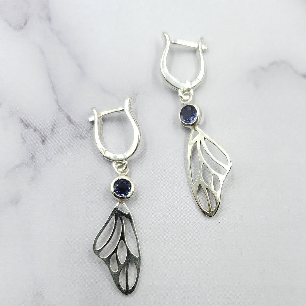Iolite Wing Hoops