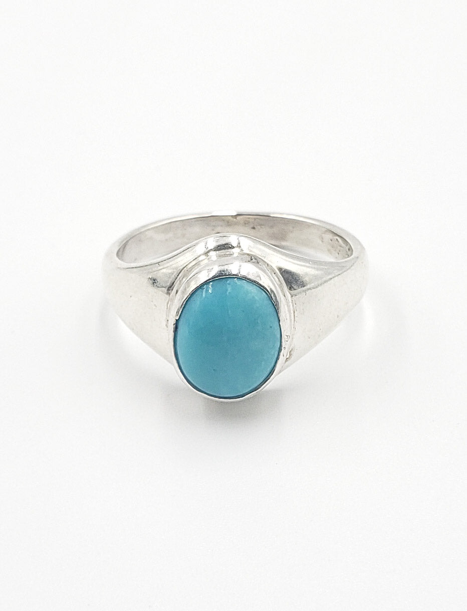 Turquoise Oval Signet Ring