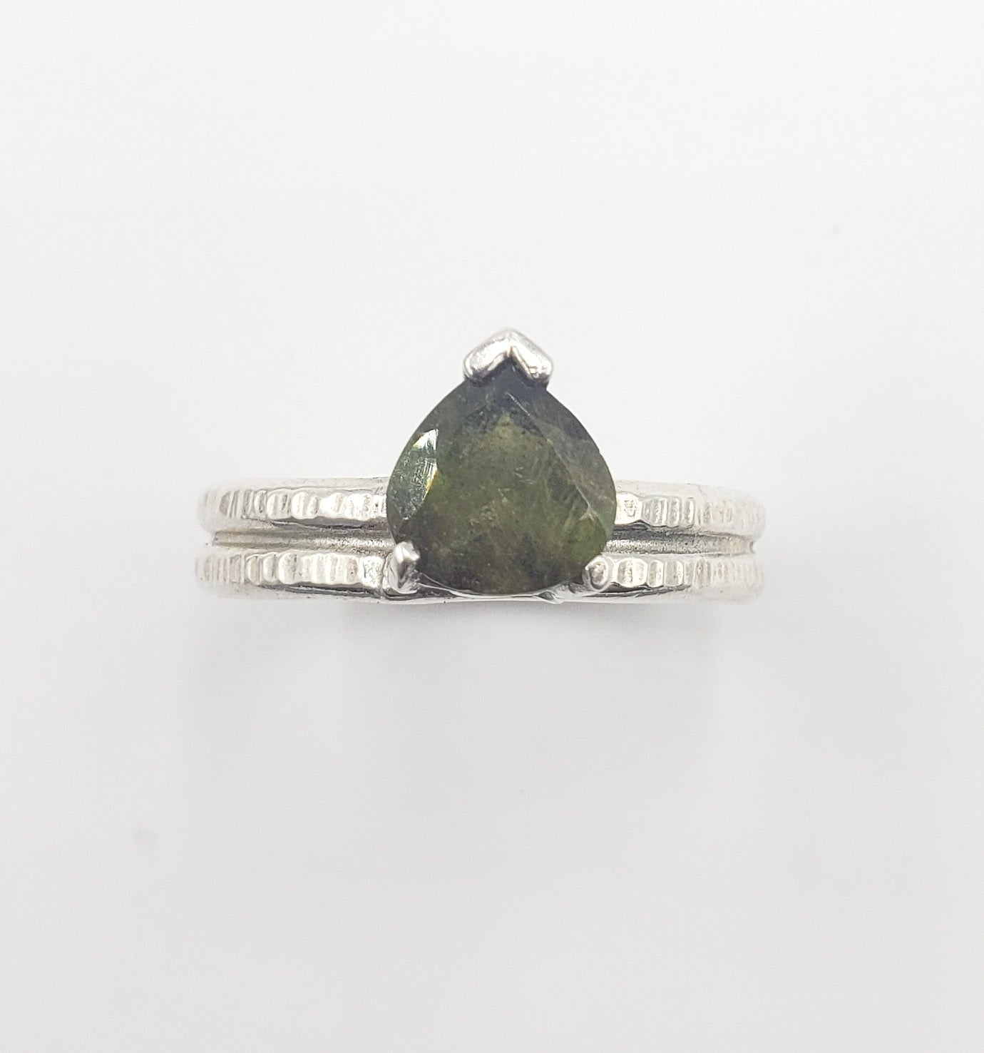 Tourmaline Double Band Ring