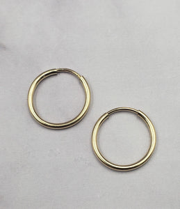 Gold Filled Petite Endless Hoops