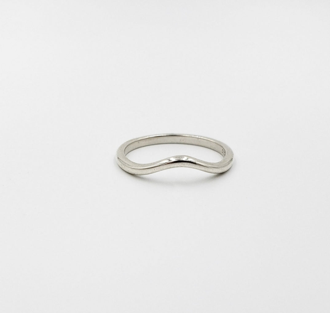 Sterling Curve Ring
