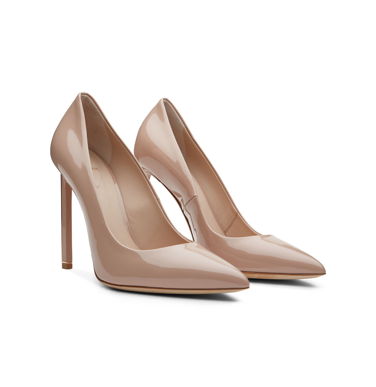 Nude Patent Leather Empire Pumps