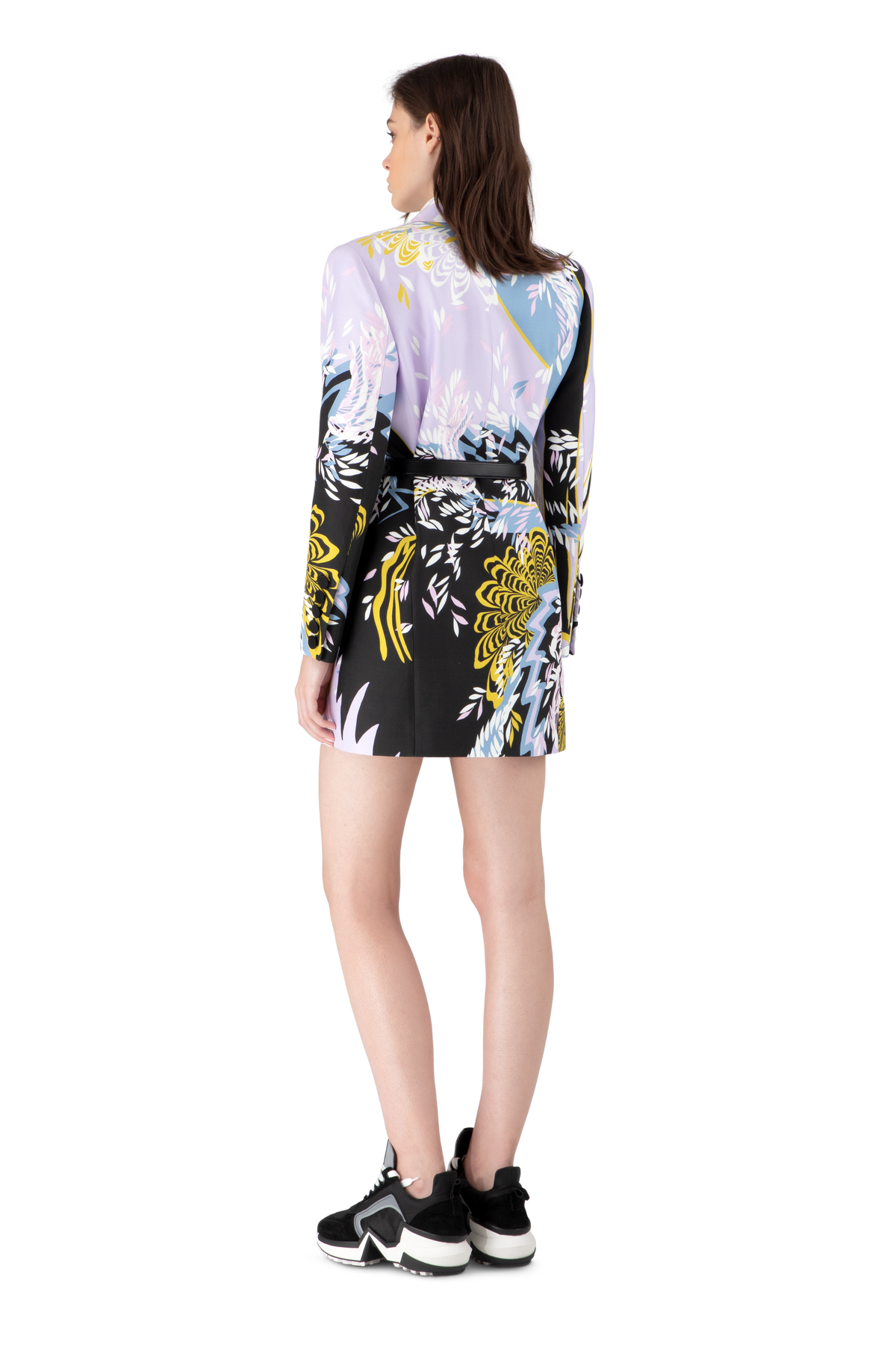 Psychedelic Print Blazer Dress