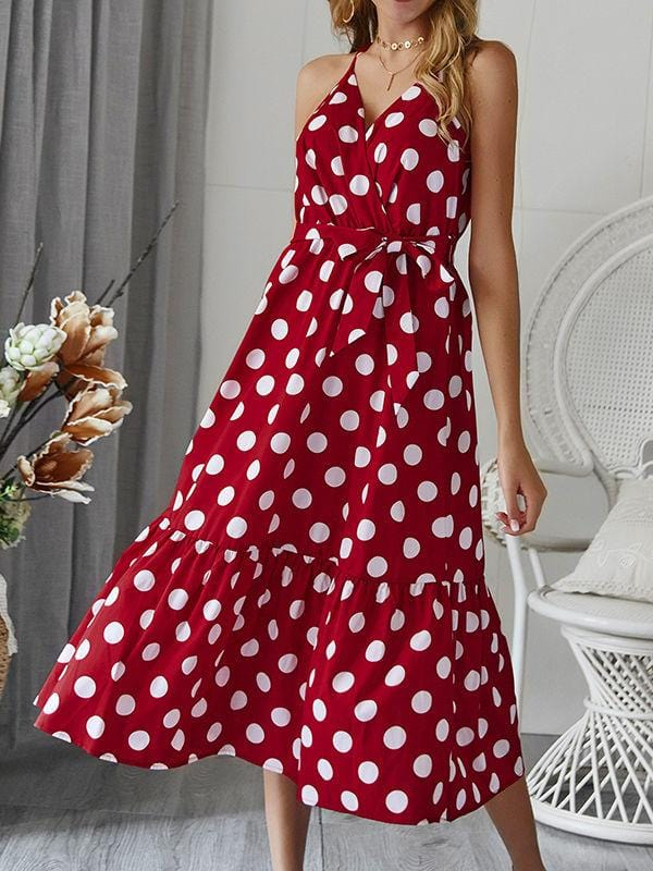 Polka Dot Working&Beach Dress