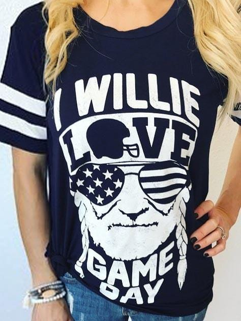I Willie Love Game Day T-Shirt