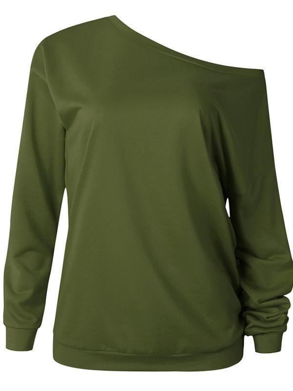 Solid Color O-neck T-shirt