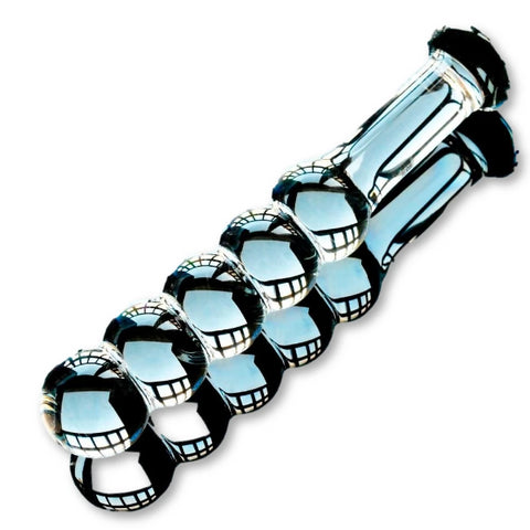 Glass Dildo With 5 Beads