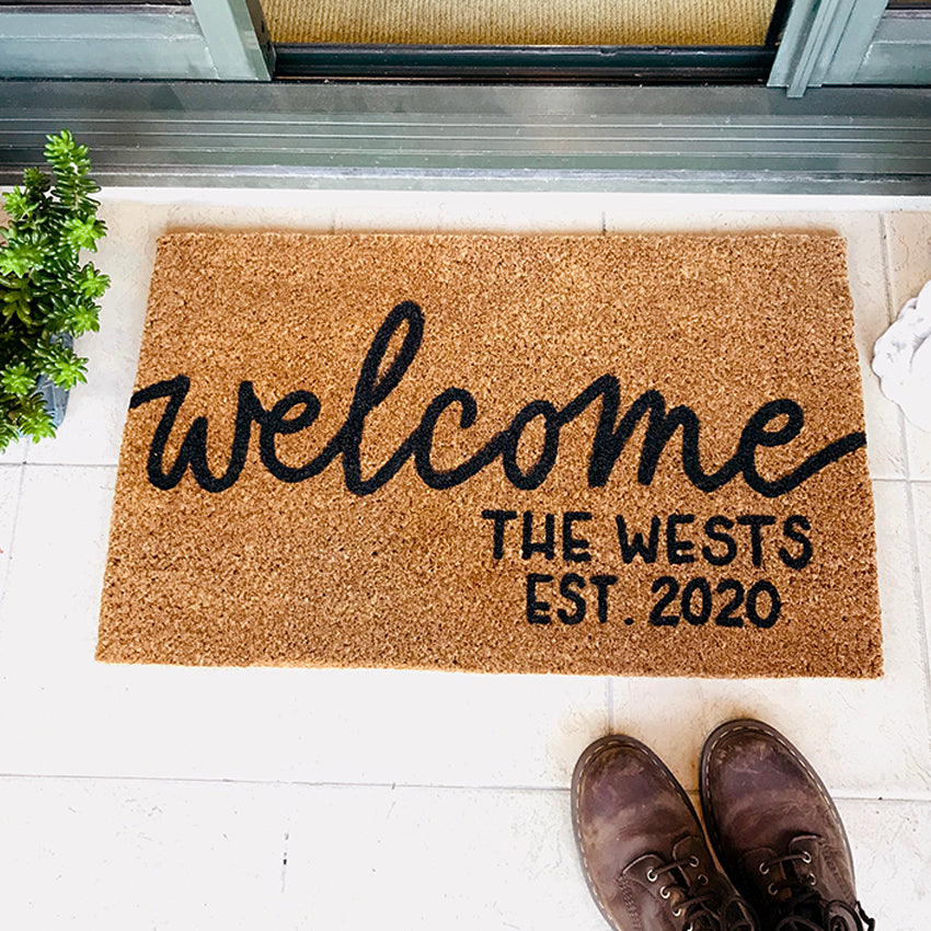 Customized Welcome Doormat Kimwrites