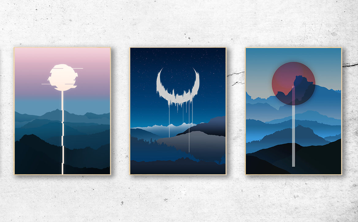 """Corrupted Landscapes"" 3 Signed Art Print Set (Save 38%!)"
