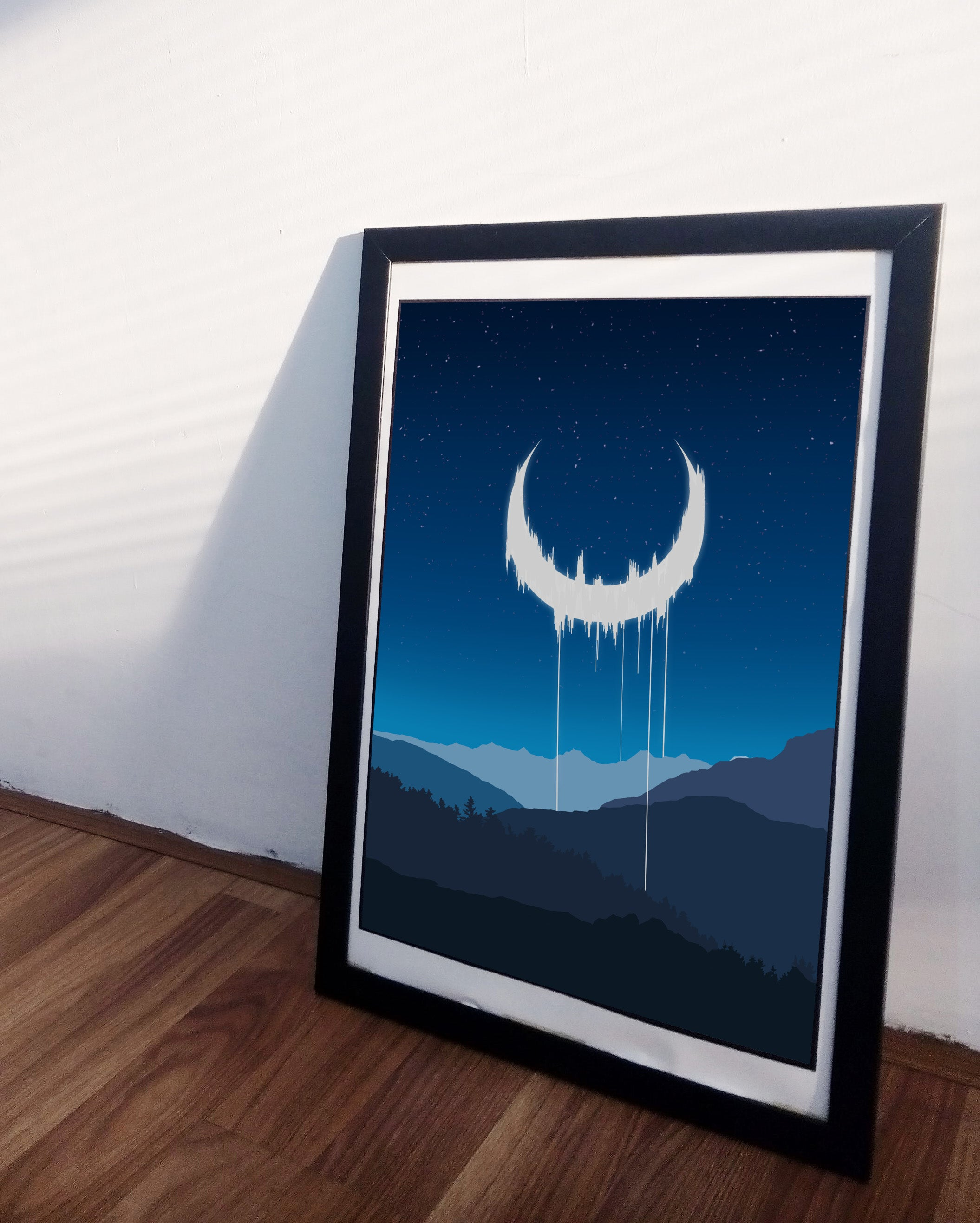 """Corrupted Luna"" Signed Art Print"