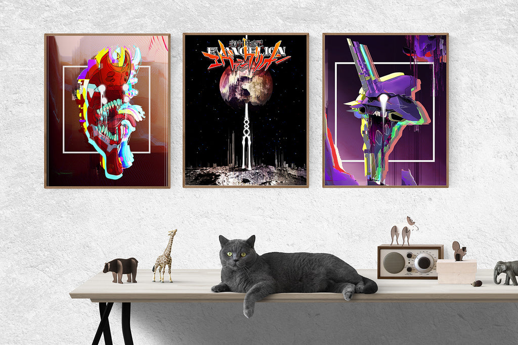 """Evangelion"" 3 Art Print Set (Save 38%!)"