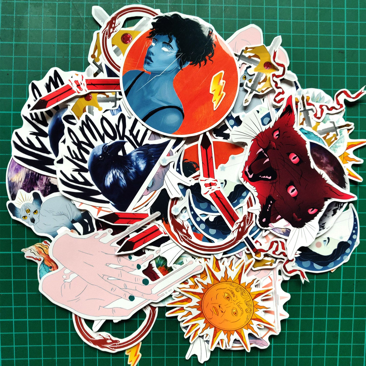 10 Glossy Vinyl Sticker Pack