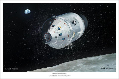 Apollo 8 Christmas by Mark Karvon