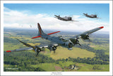 B-17 Almost Home by Mark Karvon