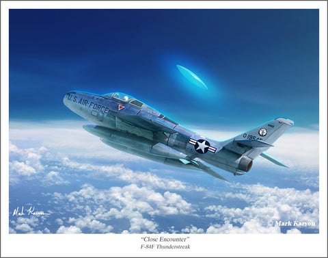 F-84F Thunderstreak & UFO