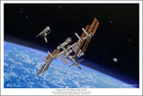 International Space Station by Mark Karvon