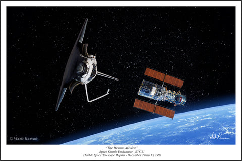 Space Shuttle Discovery & Hubble Space Telescope
