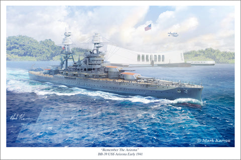 USS Arizona by Mark Karvon