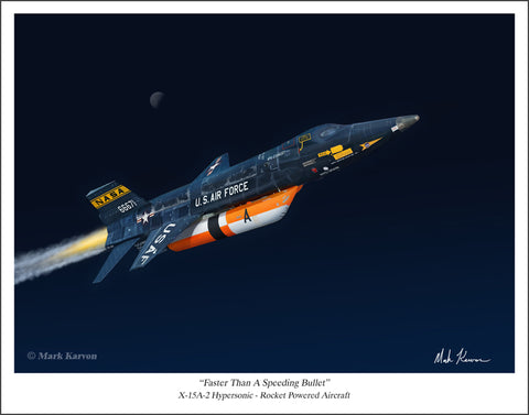 X-15A-2 by Mark Karvon