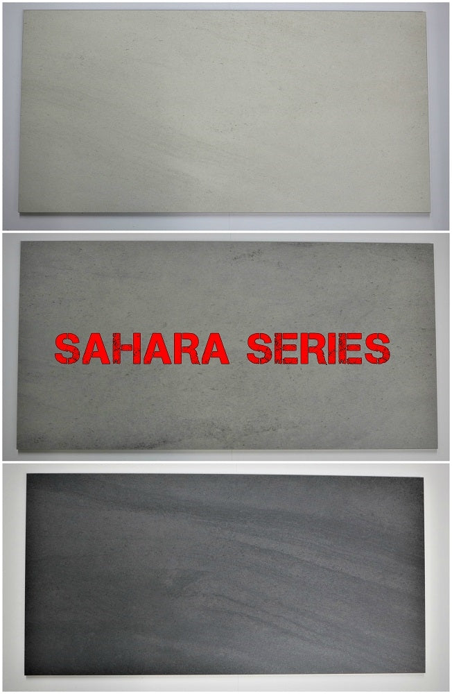 "Sahara Porcelain Tile (Black) 12x24"" - $1.99 SQ FT/Case"