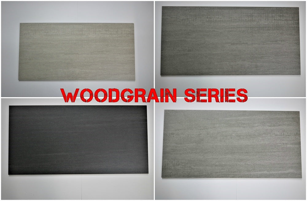 "Woodgrain Porcelain Tile (Dark Grey) 12x24"" - $1.99 SQ FT"