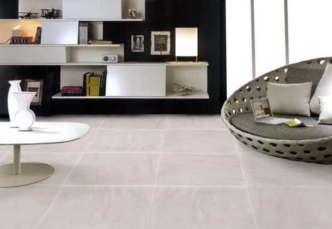 "Image of Sahara Porcelain Tile (Ivory) 24x24"" - $1.99 SQ FT"