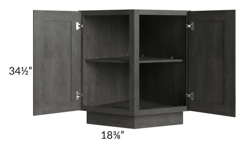 "Providence Natural Grey 24"" Angle Base Cabinet"
