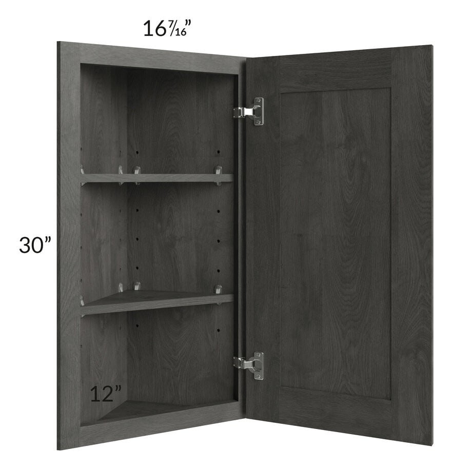 Providence Natural Grey 12x30 Angle Wall Cabinet