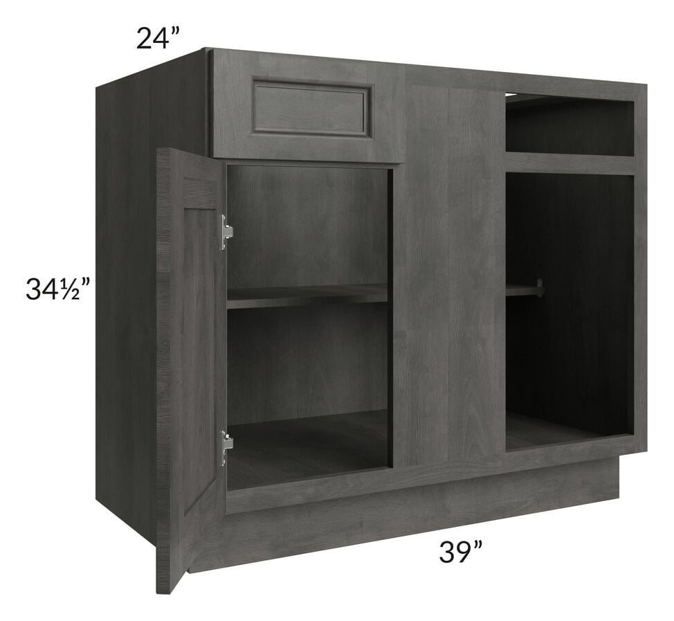 "Providence Natural Grey 42""-45"" Blind Base Corner Cabinet"