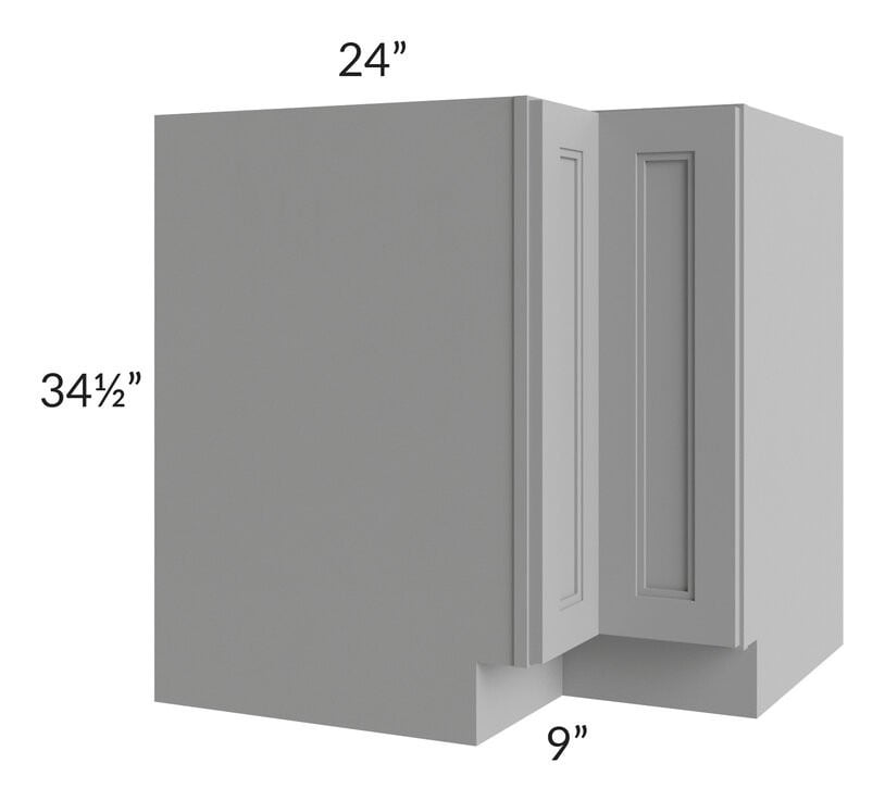 "Charlotte Grey 33"" Corner Base Cabinet (Trays sold separately for a Lazy Susan application)"