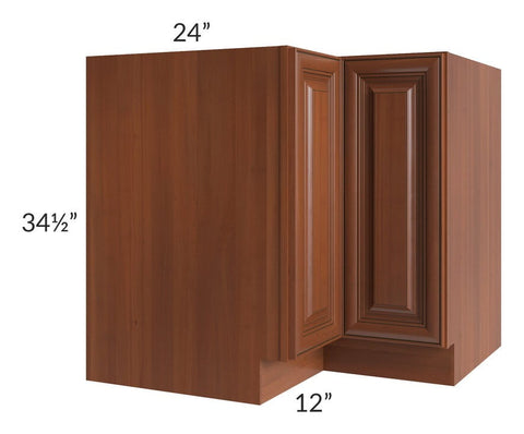 "Phoenix Caramel Glaze 36"" Corner Base Cabinet (Trays sold separately for a Lazy Susan application)"