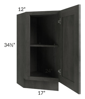 "Providence Slate Grey 12"" Base Transitional Cabinet (Left)"