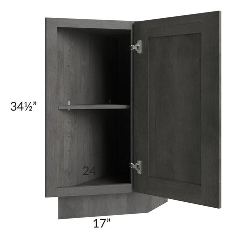 "Providence Slate Grey 12"" Base Transitional Cabinet (Right)"