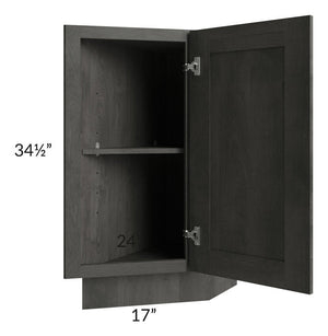 "Providence Natural Grey 12"" Base Transitional Cabinet (Right)"