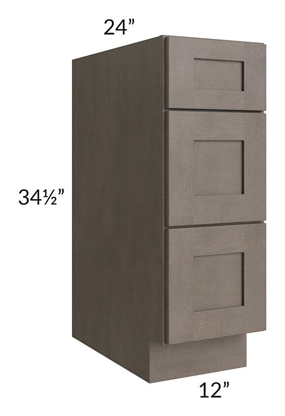 "Natural Grey Shaker 12"" Drawer Base Cabinet"