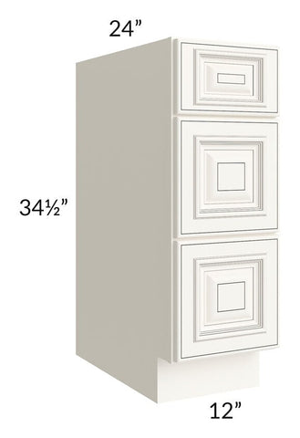 "Signature Vanilla Glaze 12"" Drawer Base Cabinet"