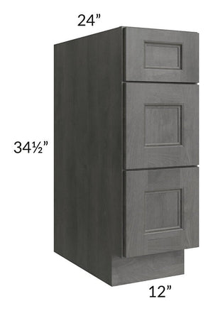 "Providence Slate Grey 12"" Drawer Base Cabinet"