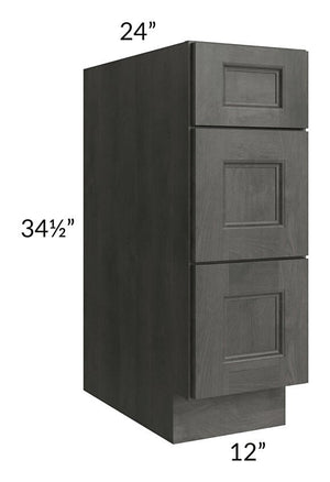 "Providence Natural Grey 12"" Drawer Base Cabinet"