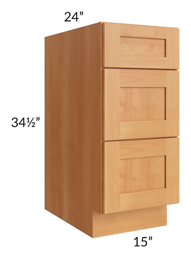 "Shaker Honey 15"" Drawer Base Cabinet"